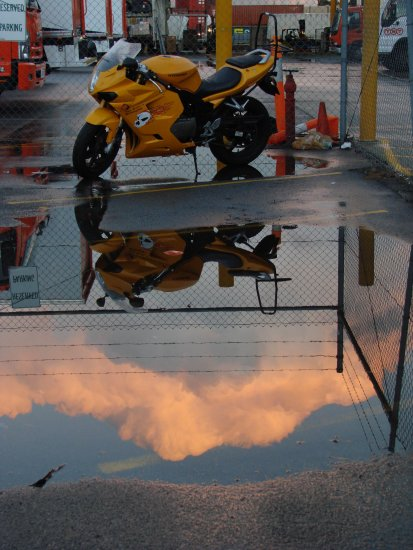 reflectionthursday puddle bike yard perth littleollie