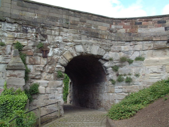 An arch, somewhere in Ironbridge (well, it was taken just over a year ago).