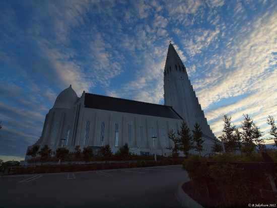 e620 summer sunset church clouds reykjavik Iceland
