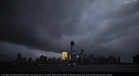hurricane sandy storm New York USA trouble horrible intensive