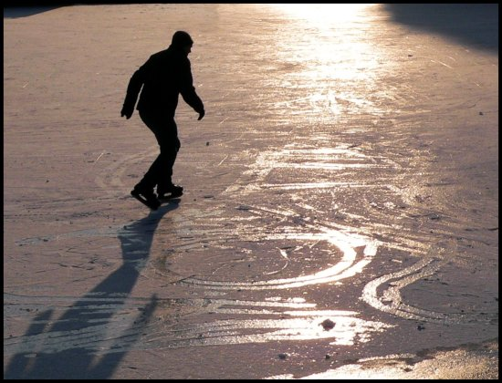 winter frost ice skating