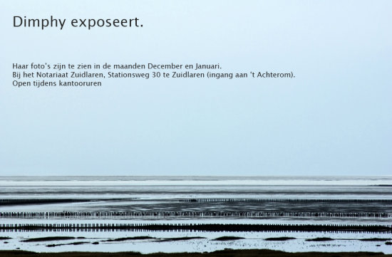 Dimphy's exhibition. Yes you read it right, my first exhibition. 20 of my photo's are hanging on...