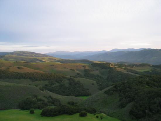 The view south from the Hidden Hills electronic site east of Monterey, California. Carmel Valley ...