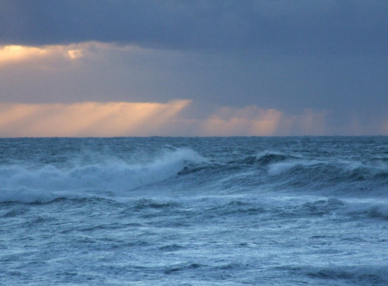 Beams over Rough Sea