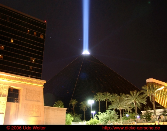 Las Vegas city night Luxor pyramid