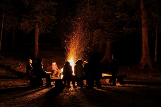 Scouts Campfire Camp winter