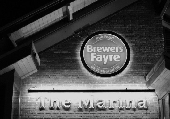 Marina Brewers Fayre Black White Photoshop