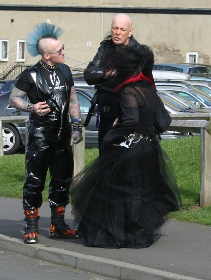 A stragler from goth weekend in Whitby.