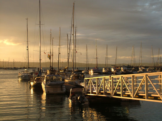 Brixham Harbour Devon sunset