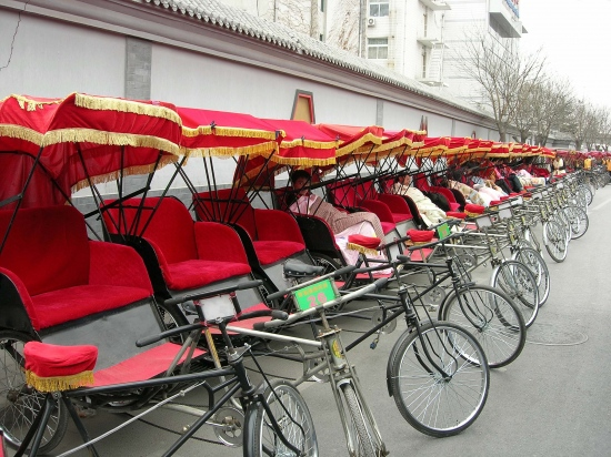 rickshaws beijing peking china