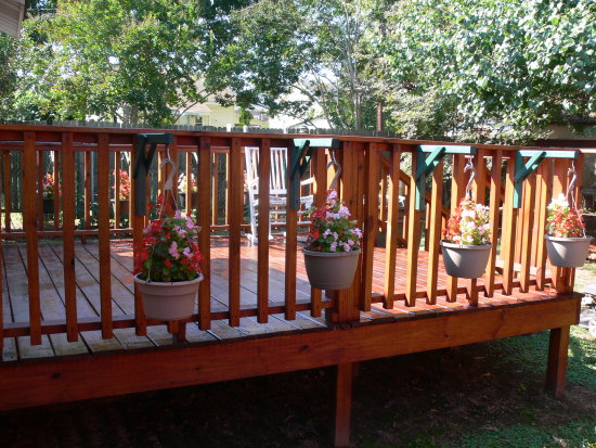 my deck is all stained, cute huh..