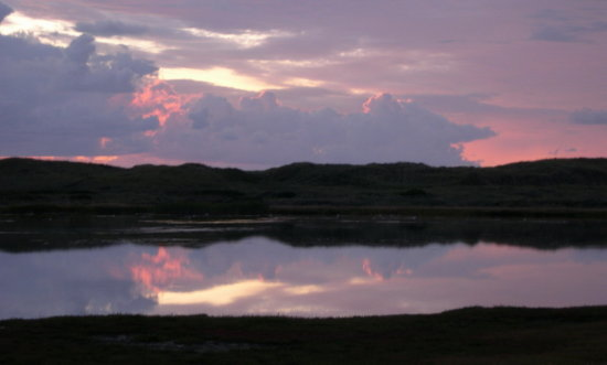 mirrors sea sky water clouds sunset