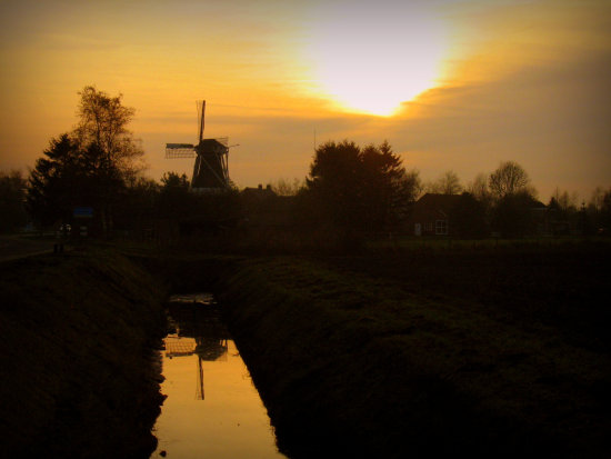 windmill reflection westerwolde oostgroningen