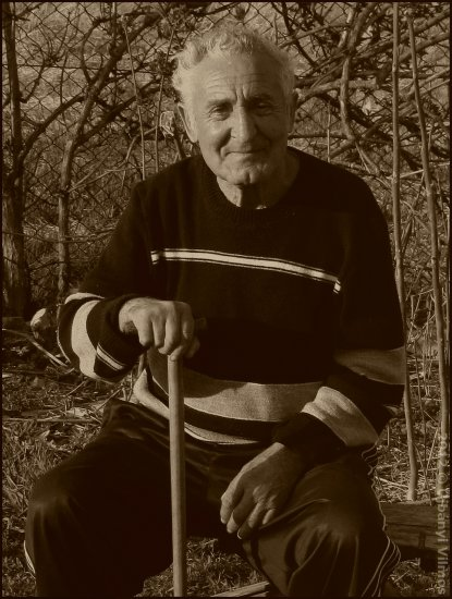 golden ager senior elder man portrait monochrome