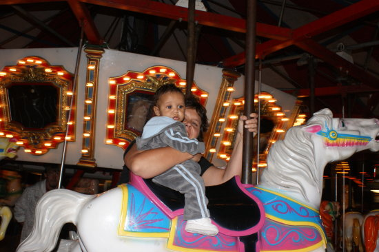 Kamen and his Mother at the Fair