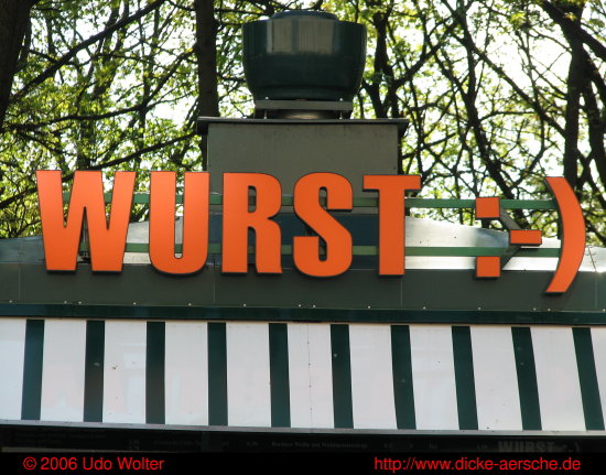 Imbiss Snack booth Wurst sausages smilie sign Wurstbude