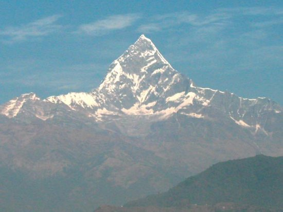 fishtail mountain nepal pokhara himal nature