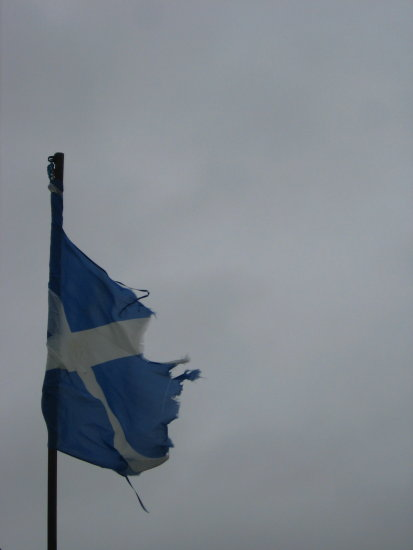 Scotland Scottish flag Isle of Seil