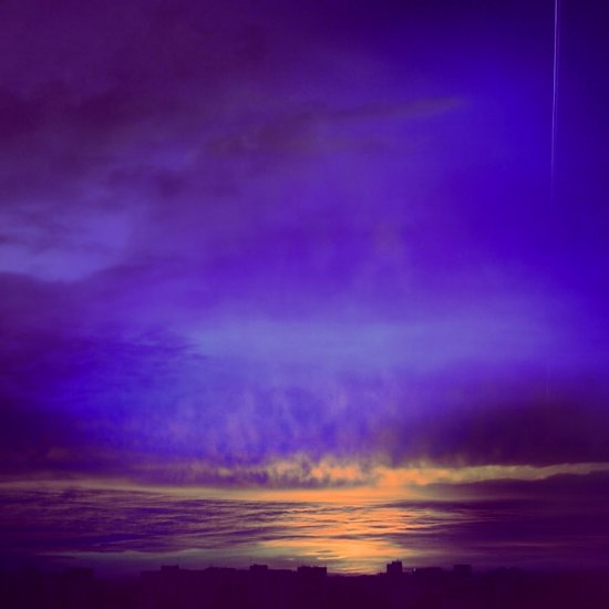 artistic sky landscape sunset warsaw poland blue violet clouds keitology