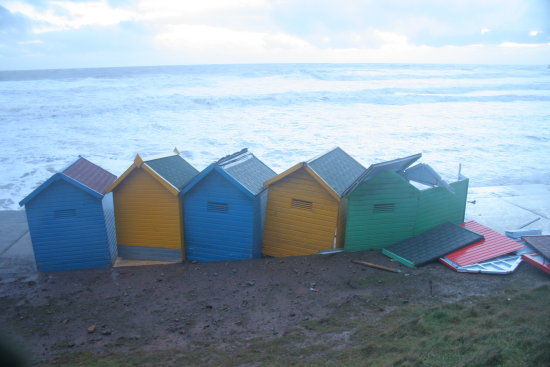 whitby water sea destroyed broken hut huts shally