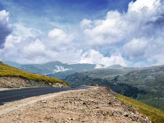 """Transalpina"", the highest altitude road of Romania (about 2248m)"