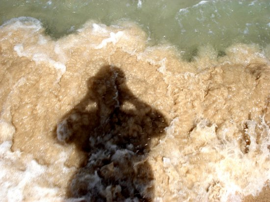 Auto portrait in the sea and sand Sal Island Cabo Verde
