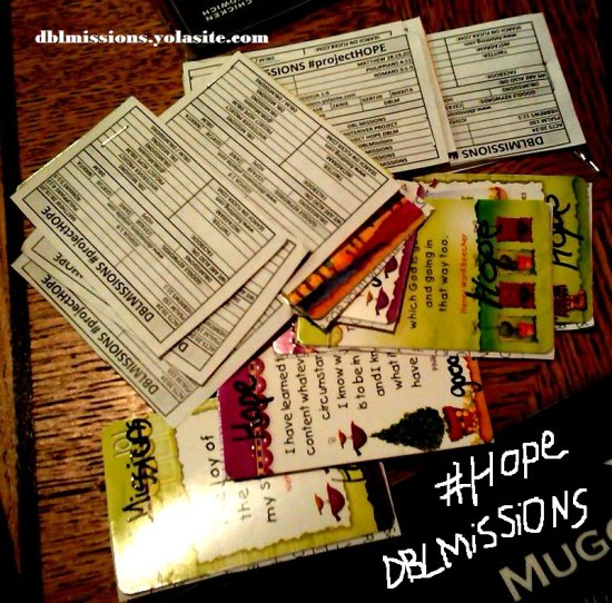 dblmissions project hope a note for you