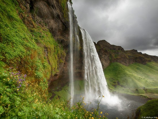 e620 sky clouds seljaland waterfall Iceland