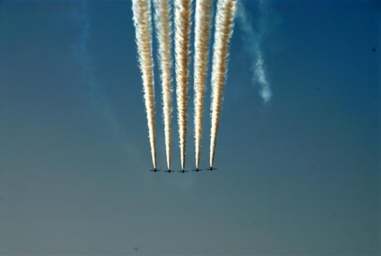 The Red Arrows UK Royal Air Force Aerobatic Team in Bahrain 28 May 2006