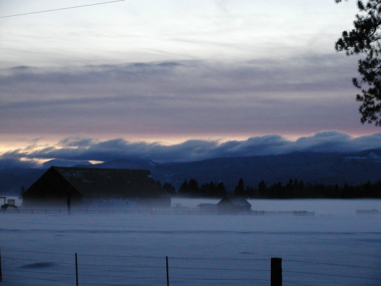 sunset snow klamath oregon