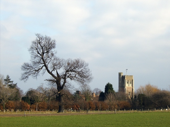 Cardington village church tree people r101 airship