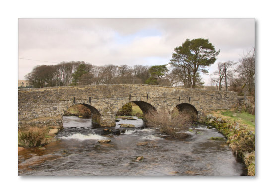 bridge postbridge river national park dartmoor devon uk nature landscape hdr