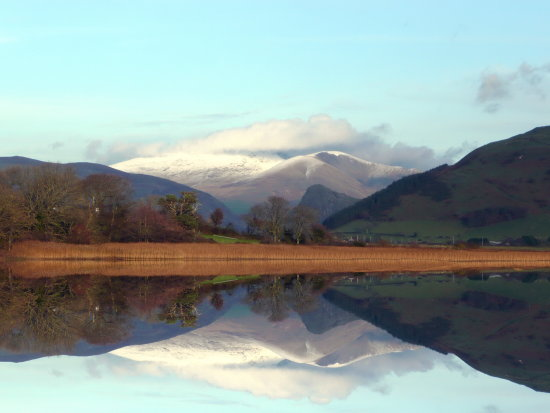 Snow Reflection on the Dysynni River in Mid Wales