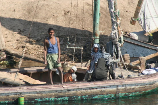 fishing nile landscape travel Egypt boating culture water