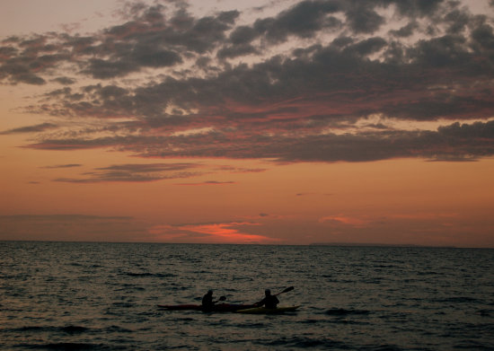 westward ho canoe sunset
