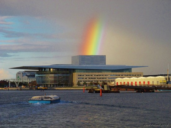 Operahouse Copenhagen Rainbow September 2012 Denmark