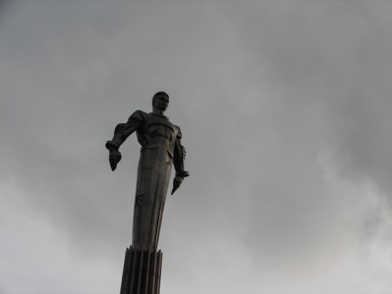 Statue of Yuri Gagarin, The first human in space, Moscow