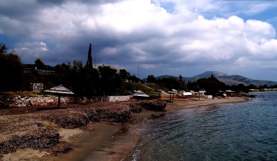 lagonisi cloudysky beach greece