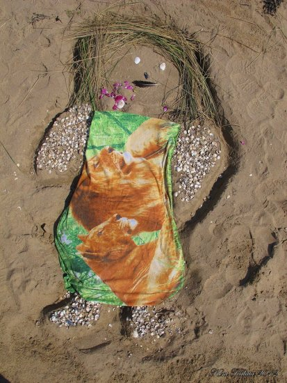 Beach Art Leo Dress Woman Klitterhus Angelholm Skane Sweden May 2012