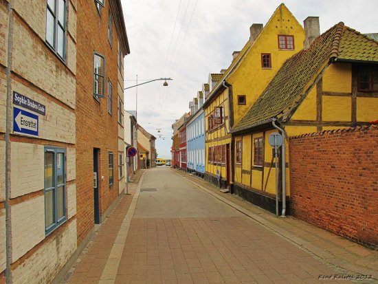Street Helsingor 2012 August East Old Buildings Denmark
