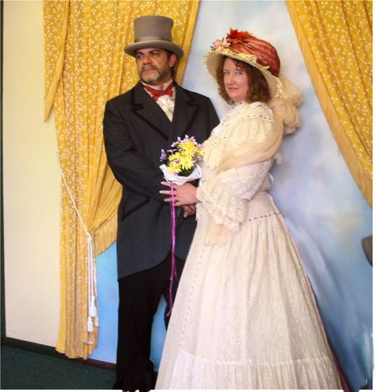 Picture I snapped of my niece & her hubby as they waited for the pro to get his act together (I w...