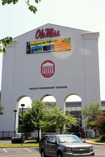 university of Mississippi arch entrance