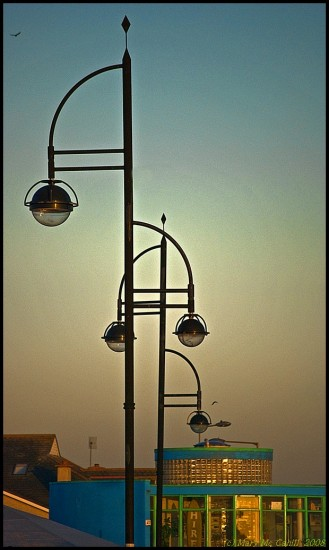 evening light lamps dusk tramore waterford