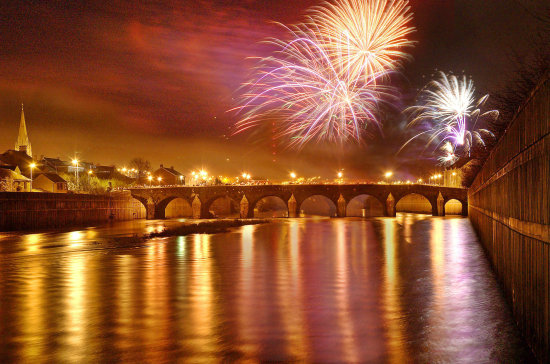 Strabane people enjoying the great firework display