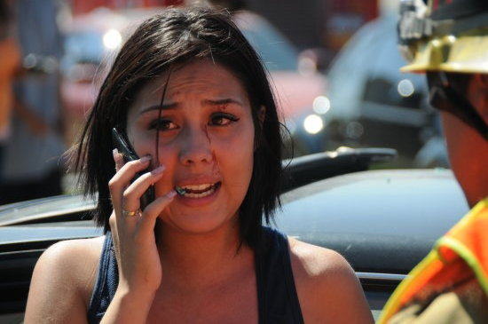 Accident Cell Phone girl