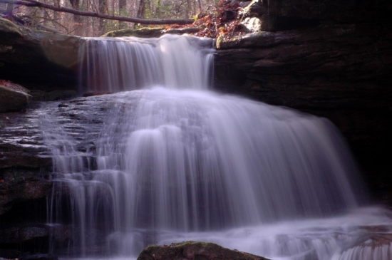 waterfall rocks nature long exposure waterblur trees leaves Alabama