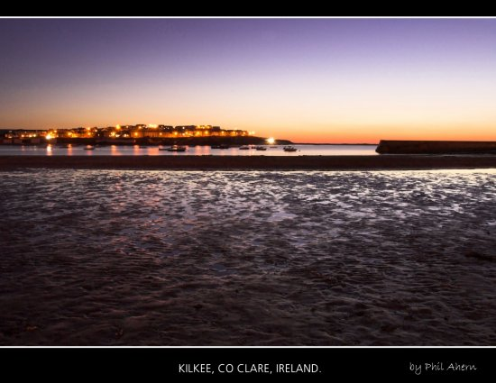 Kilkee Clare Ireland Landscape Sunset Sea Coast Night