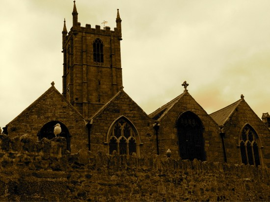 margarets 53 sepia 2005 Cornwall st ives church iPhoto Apple Macintosh