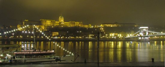 Budapest by a foggy night