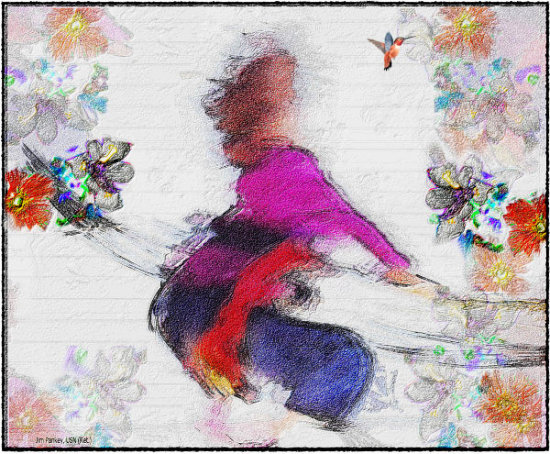 child abstract pankey wildspirit hummingbird Discovery